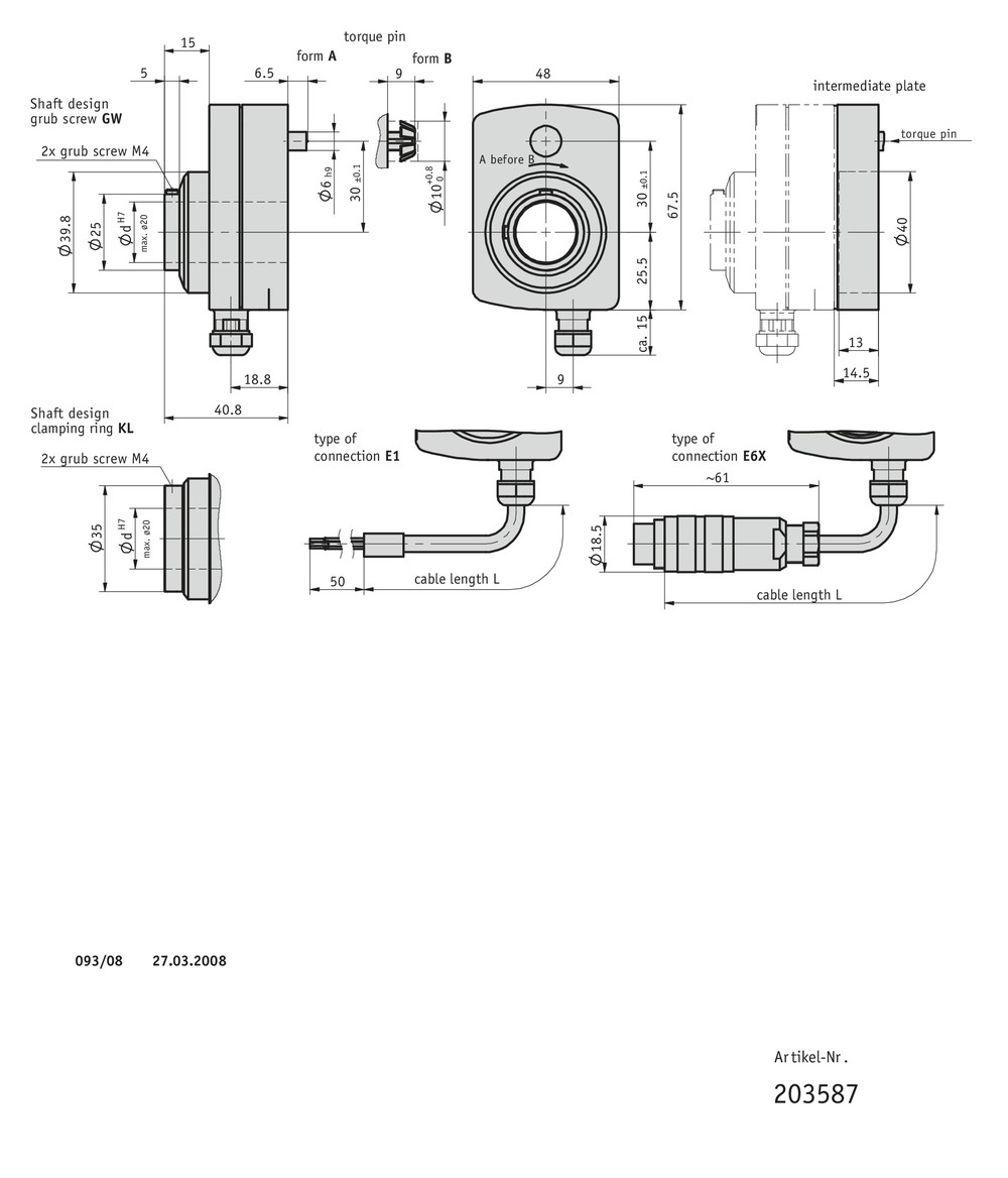 Incremental encoder IG09M