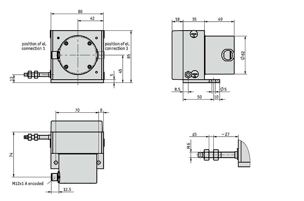 Wire-actuated encoder SG42
