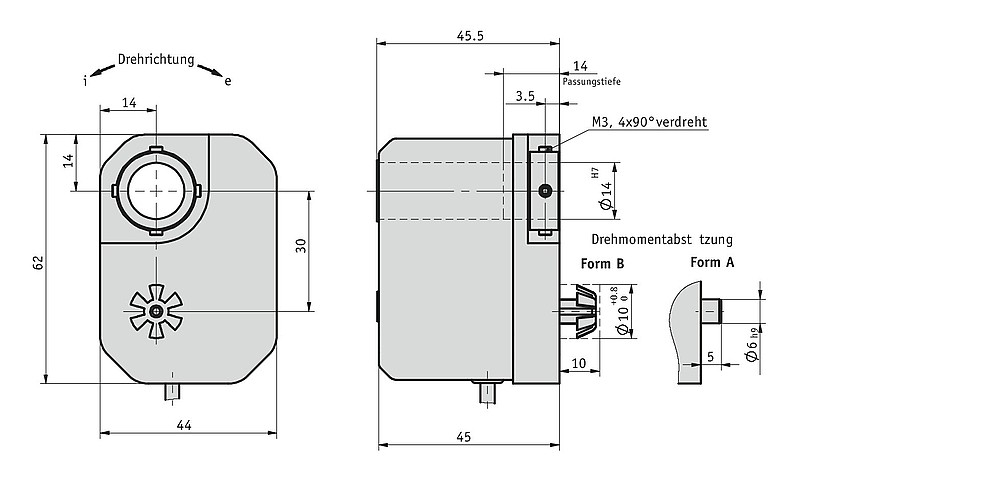 Getriebepotentiometer GP02