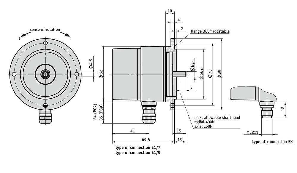 Geared potentiometer GP03/1
