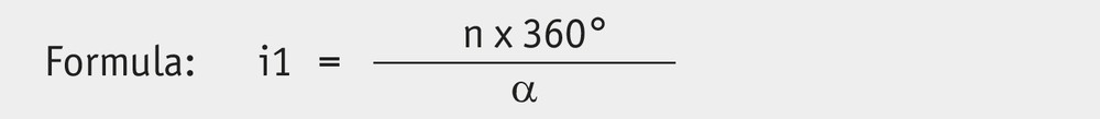 GP03/1 Gear ratio calculation